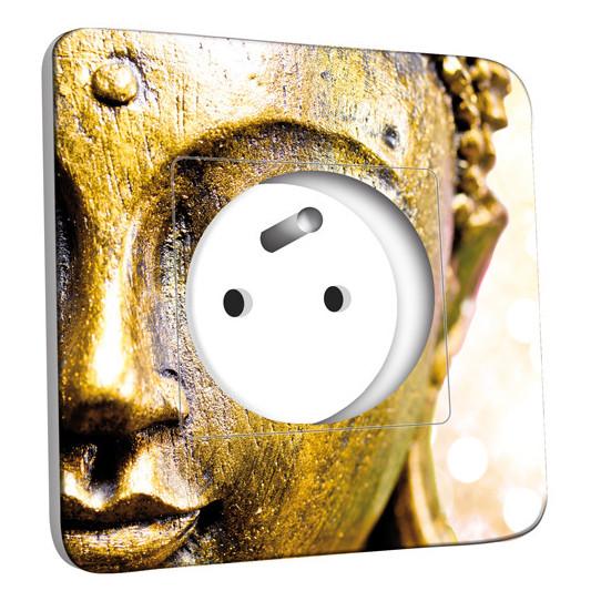 Prise décorée - Bouddha Zoom Or 3