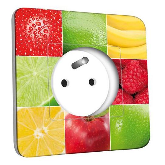 Prise décorée - Carrés de Fruits Zoom