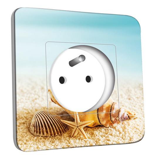 Prise décorée - Coquillages Etoile de mer 10