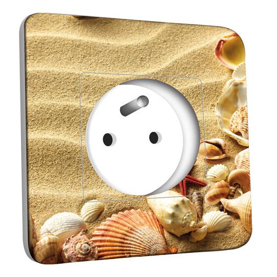 Prise décorée Coquillages Etoile de mer 13