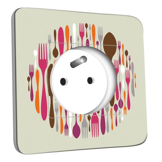 Prise décorée - Cuisine Couverts Design 2