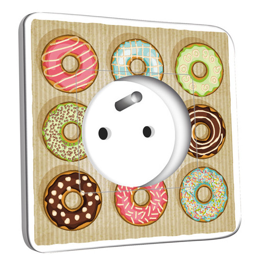 Prise décorée - Cuisine Gâteaux Donuts