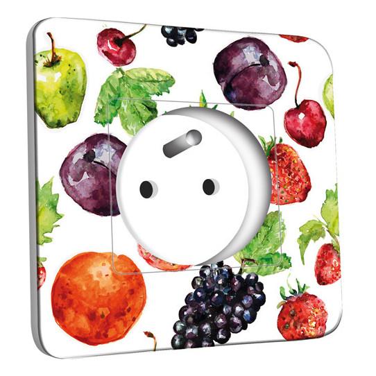 Prise décorée - Cuisine Life style Fruit&Lègumes Abstrait
