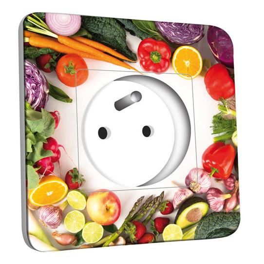 Prise décorée - Cuisine Life style Fruits&Lègumes 2