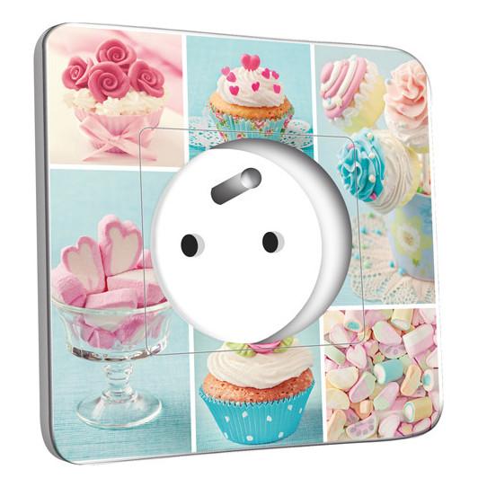 Prise décorée - Cupcake 2