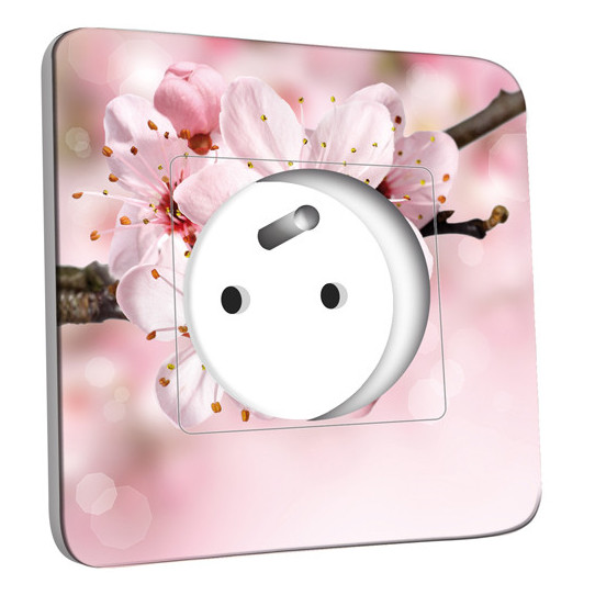 Prise décorée - Fleur de cerisier Zoom
