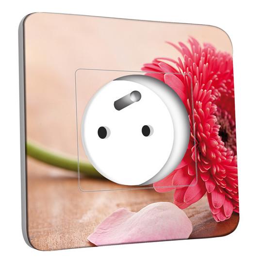 Prise décorée -  Fleur Zoom