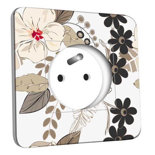 Prise décorée - Fleurs Abstrait 14