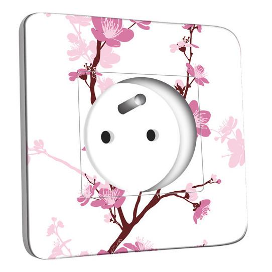 Prise décorée - Fleurs de Cerisier 1