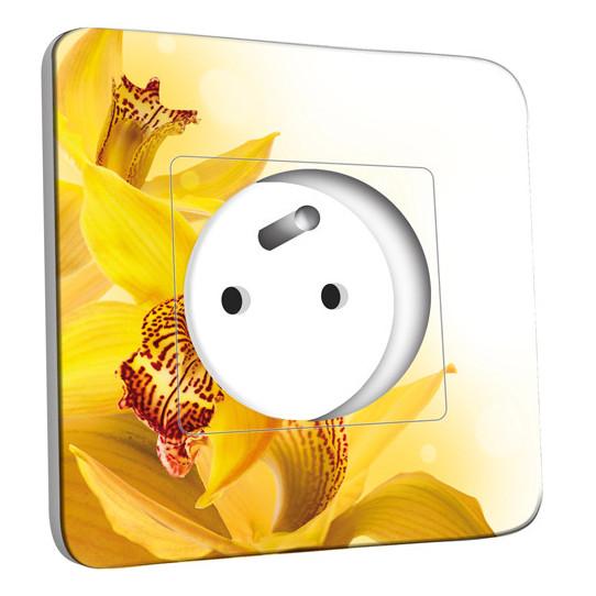 Prise décorée - Fleurs jaunes Zoom 2