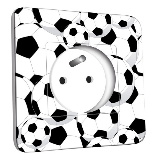Prise décorée -  Foot Black&White Design