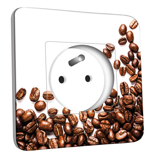 Prise décorée - Graines de Café Zoom 2