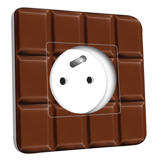 Prise décorée - Imitation Tablette de chocolat