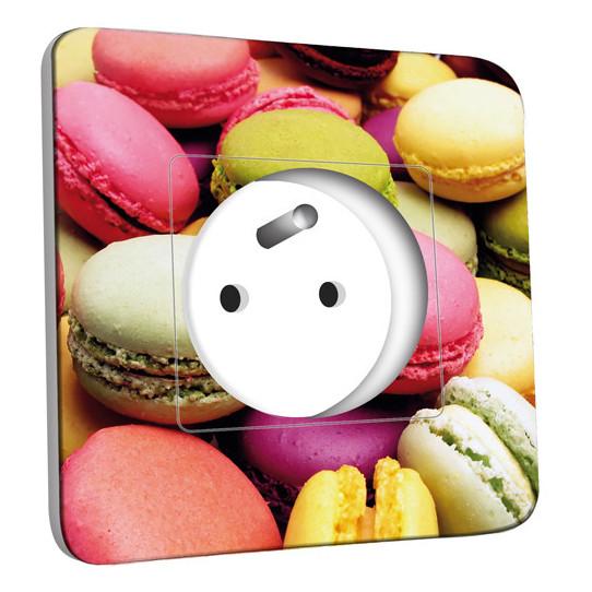 Prise décorée - Macarons 01