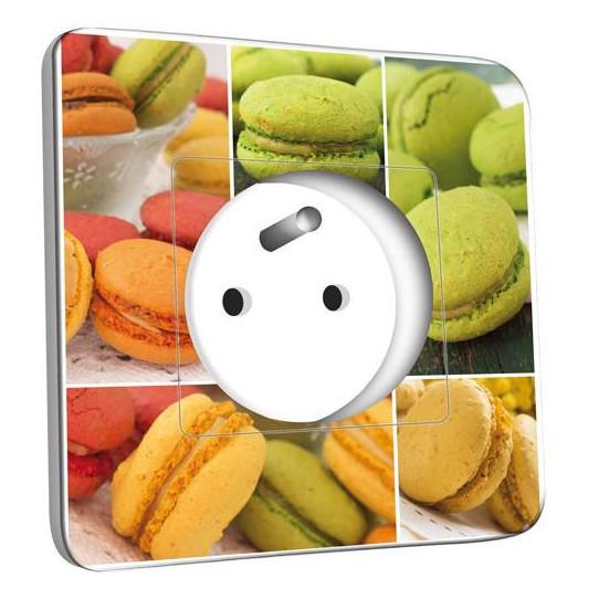 Prise décorée -  Macarons