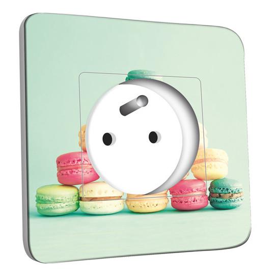 Prise décorée - Macarons vert