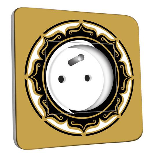 Prise décorée - Motif Chinois YingYang
