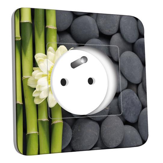 Prise décorée - Nature-Pierres,Bambou Fleur 4