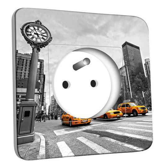Prise décorée - New York Black&White Taxis Jaunes