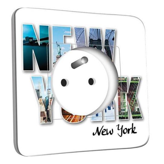Prise décorée - New York Lettres
