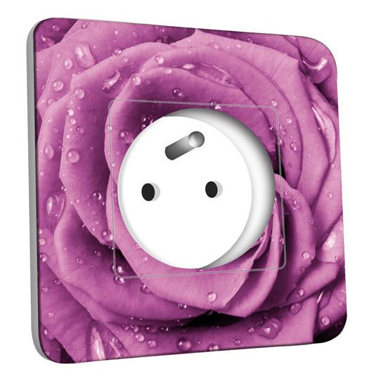 Prise décorée - Rose mauve Zoom