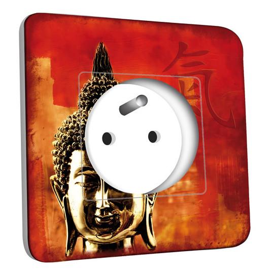 Prise décorée - Tête de Bouddha Zoom 1