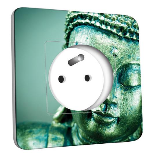 Prise décorée - Tête de Bouddha Zoom