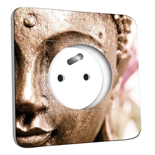 Prise décorée - Tête de Bouddha Zoom Or