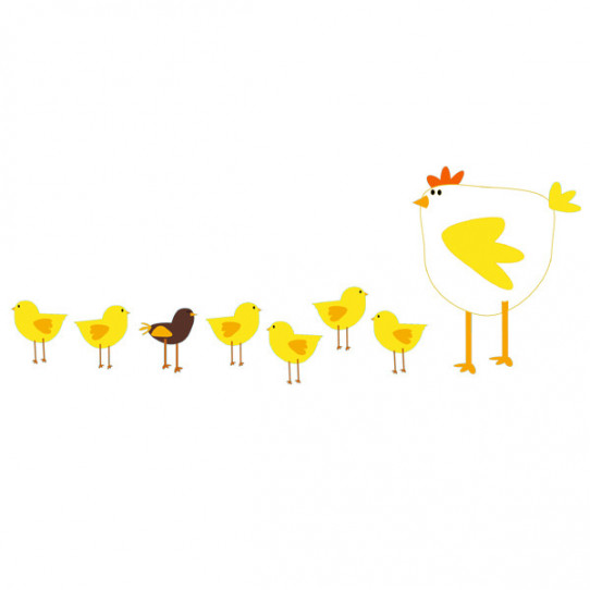 Stickers Poule