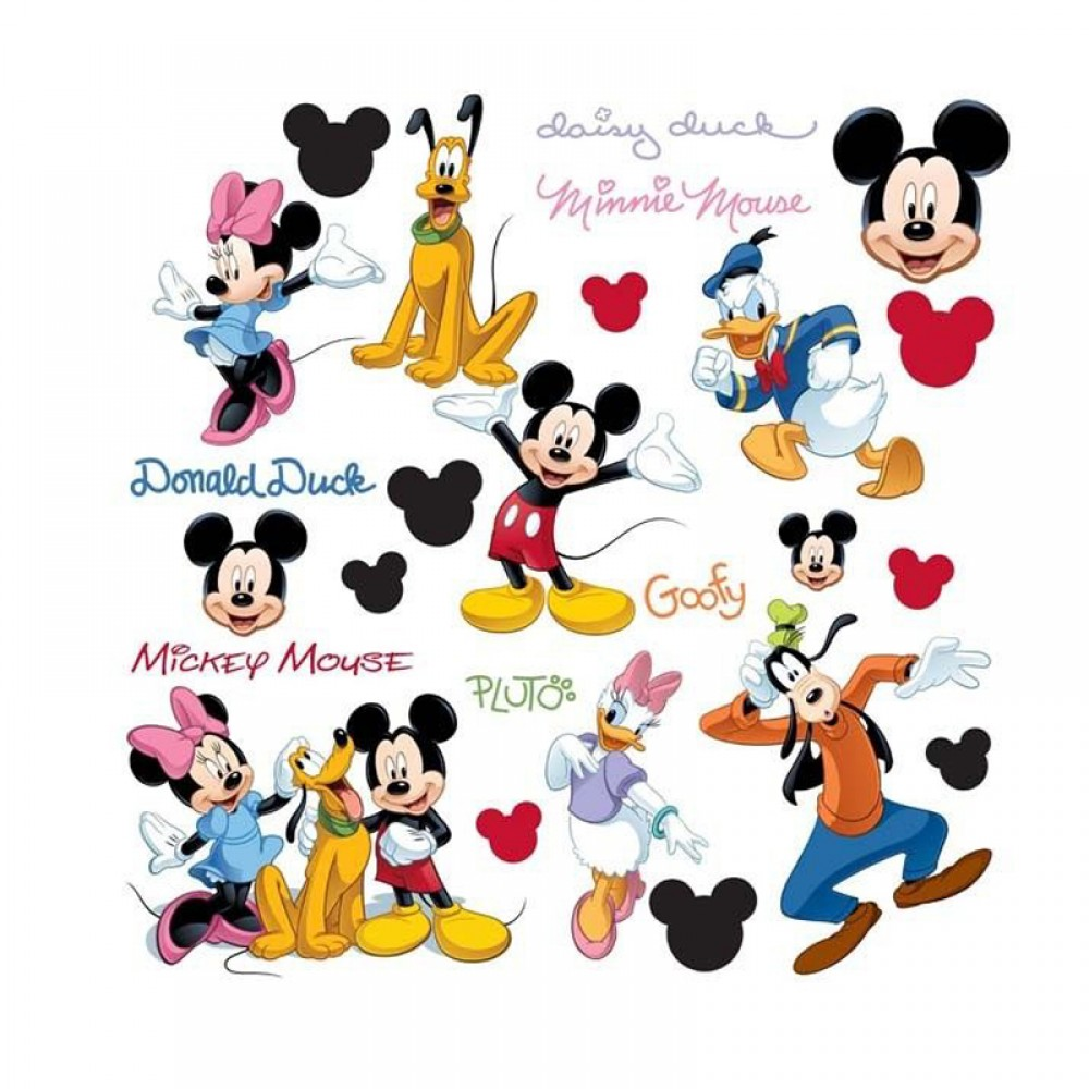 30 stickers mickey mouse et ses amis disney des prix 50 moins cher qu 39 en magasin. Black Bedroom Furniture Sets. Home Design Ideas