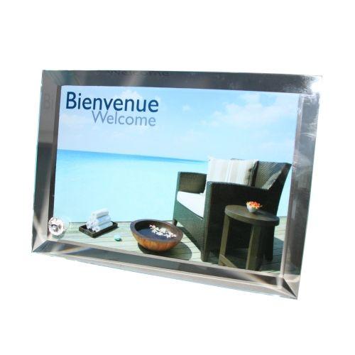 cadre photo en verre contour biseaut grand format des. Black Bedroom Furniture Sets. Home Design Ideas