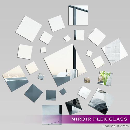 Miroir plexiglass acrylique carr spirale des prix 50 for Miroir acrylique