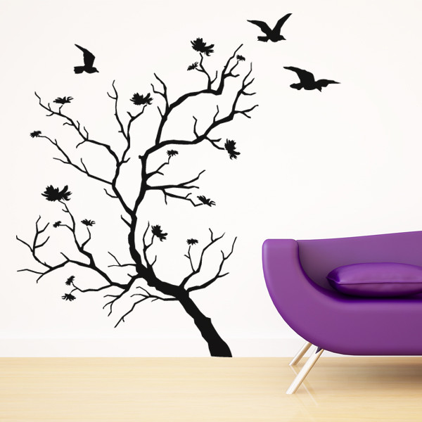 stickers arbre oiseaux des prix 50 moins cher qu 39 en magasin. Black Bedroom Furniture Sets. Home Design Ideas