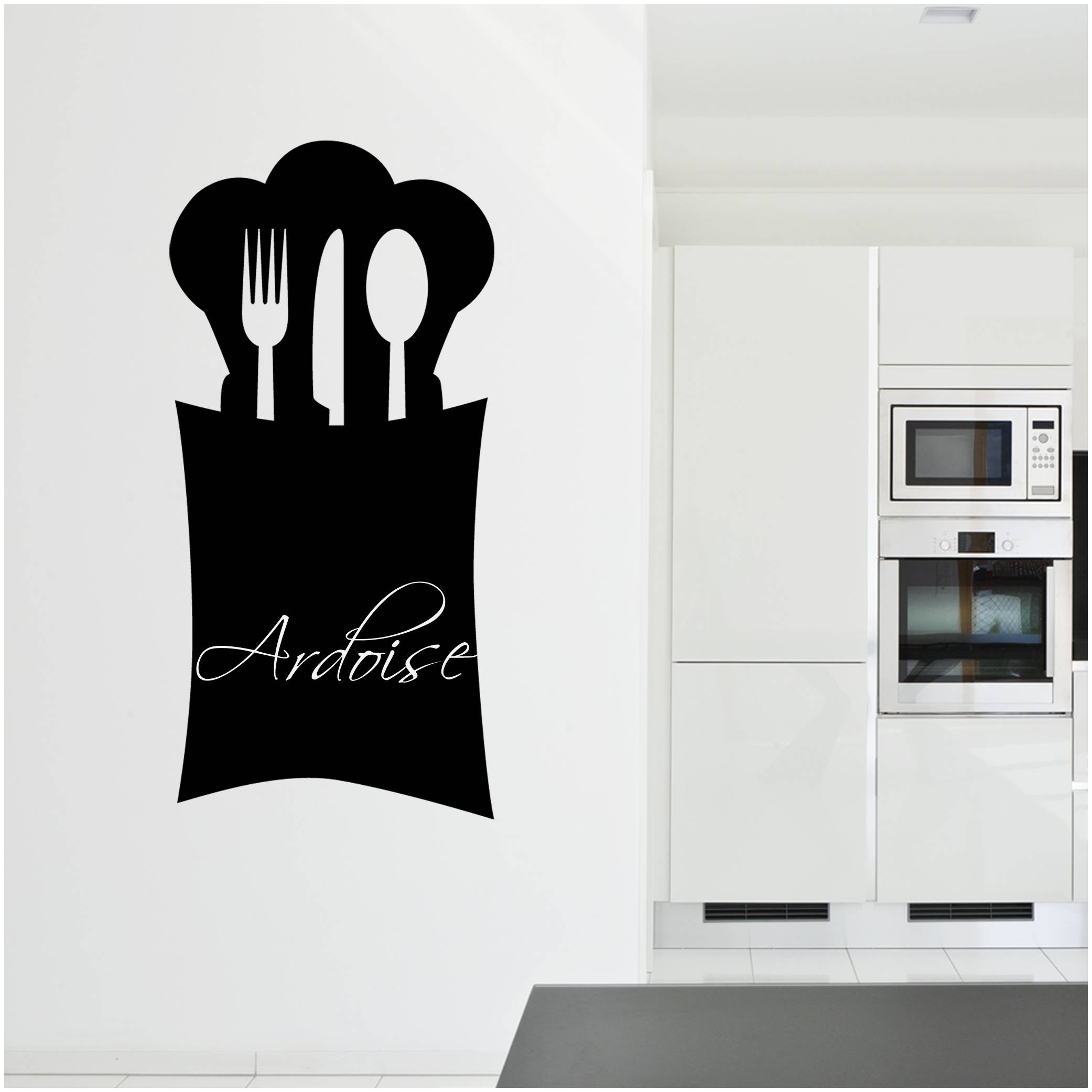 stickers ardoise cuisine couverts des prix 50 moins cher qu 39 en magasin. Black Bedroom Furniture Sets. Home Design Ideas