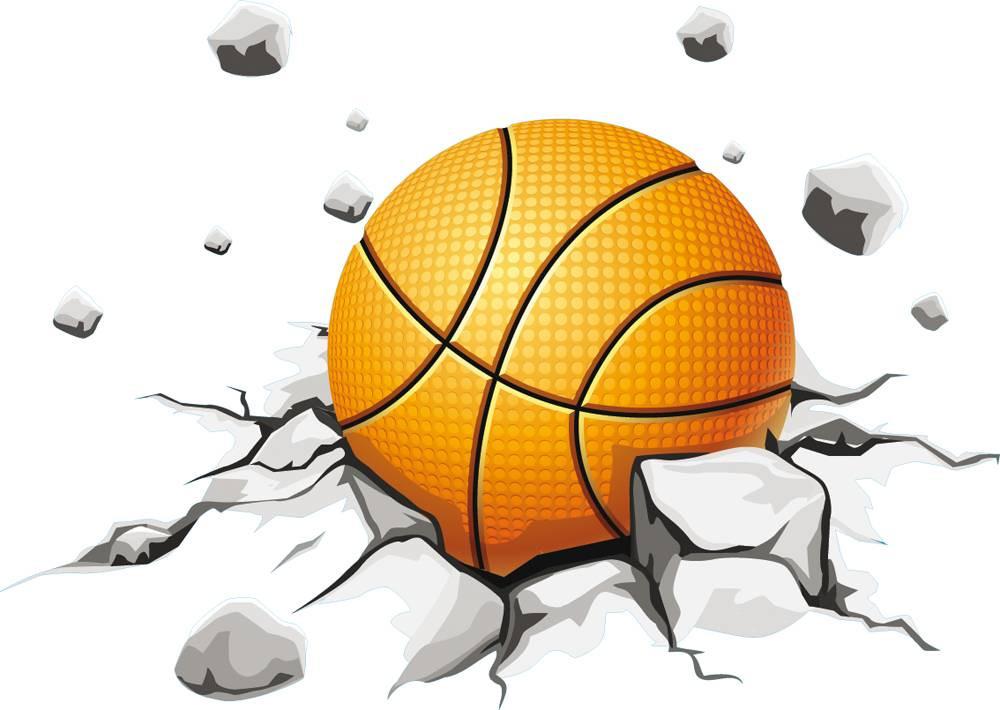 Stickers Ballon De Basketball Des Prix 50 Moins Cher Qu