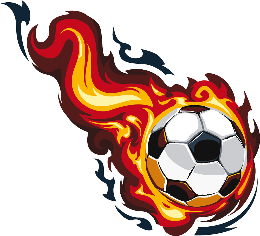 Stickers ballon de foot en feu des prix 50 moins cher - Dessin ballon foot ...