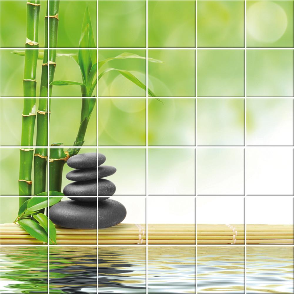 Stickers Carrelage Bambou Galets Des Prix 50 Moins Cher Qu En Magasin