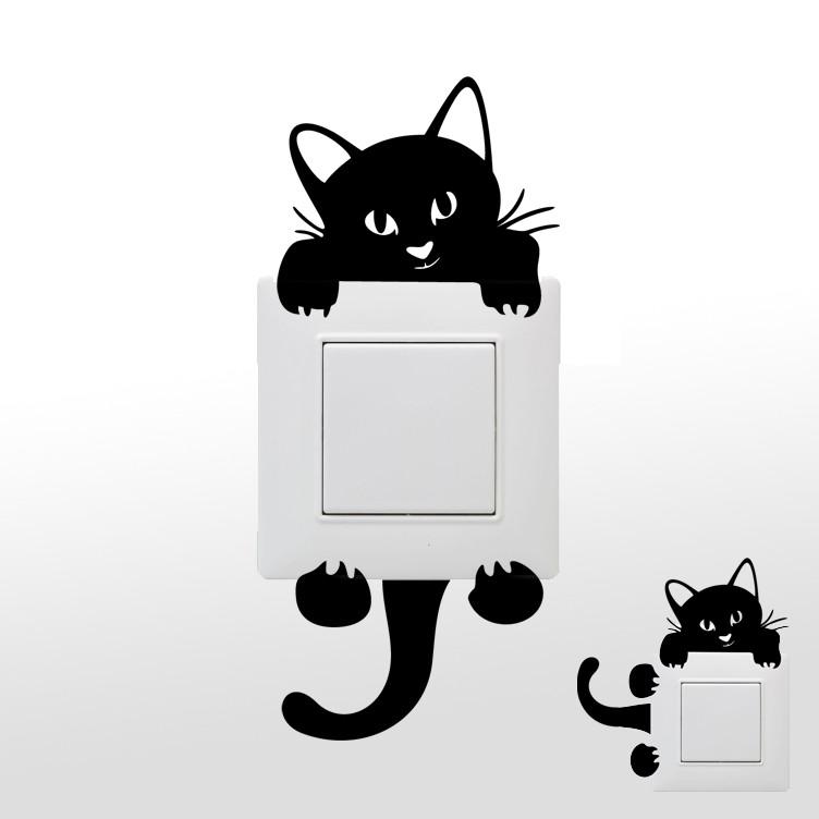 Stickers chat pour prises et interrupteurs des prix 50 moins cher qu 39 en magasin - Stickers pour porte pas cher ...