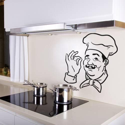 Stickers chef cuisine des prix 50 moins cher qu 39 en magasin for Stickers muraux cuisine