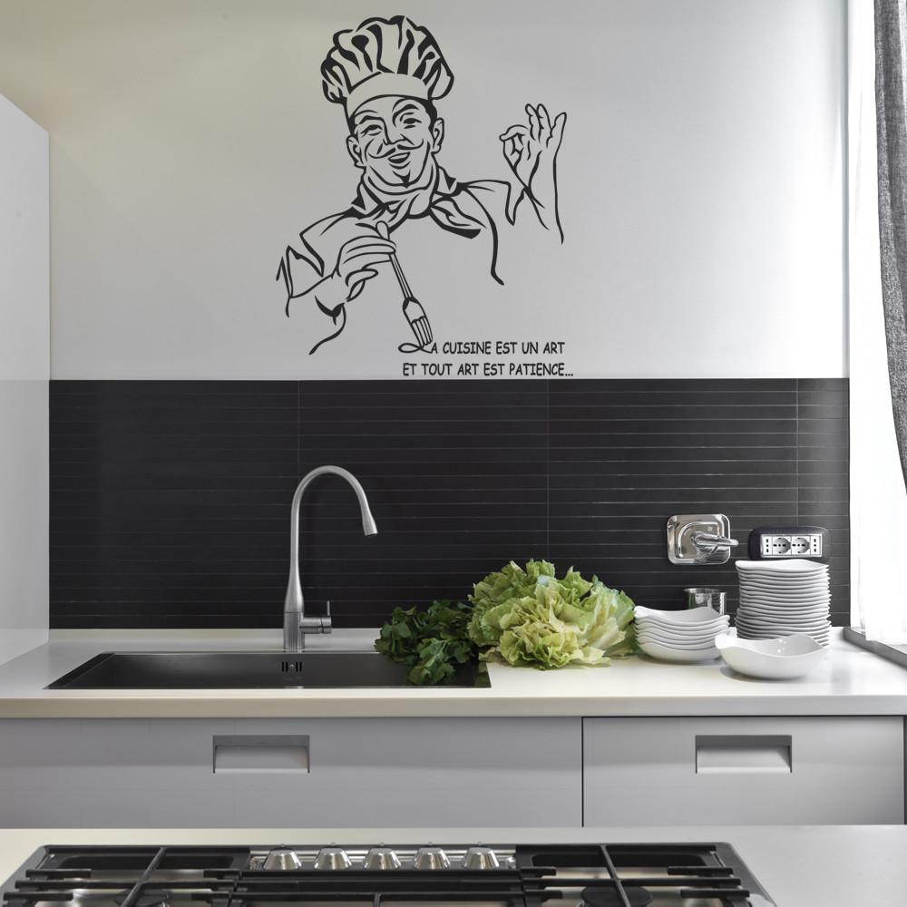 stickers citation chef cuisine des prix 50 moins cher. Black Bedroom Furniture Sets. Home Design Ideas