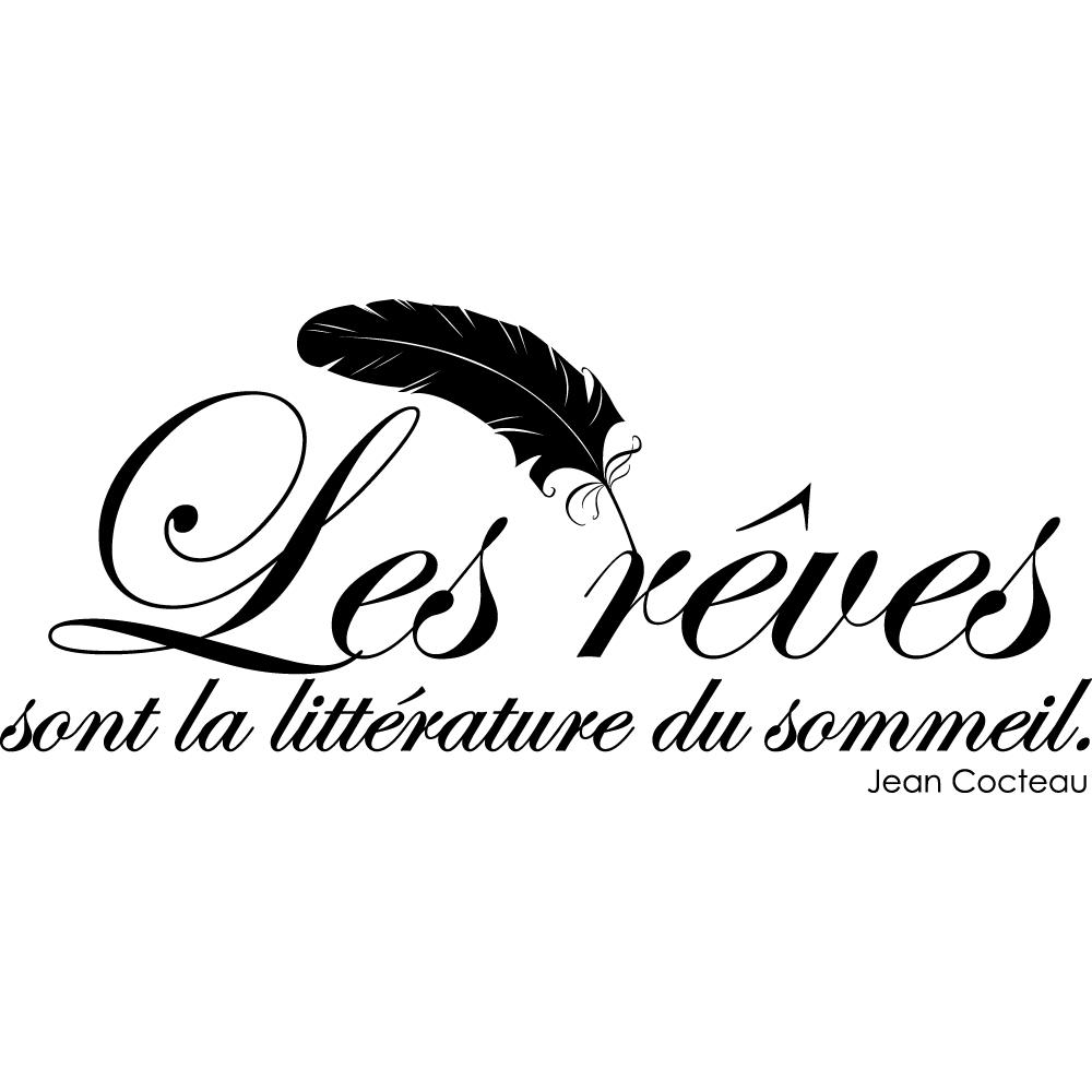 stickers citation jean cocteau