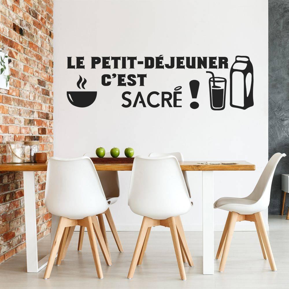 stickers citation le petit d jeuner c 39 est sacr des prix 50 moins cher qu 39 en magasin. Black Bedroom Furniture Sets. Home Design Ideas