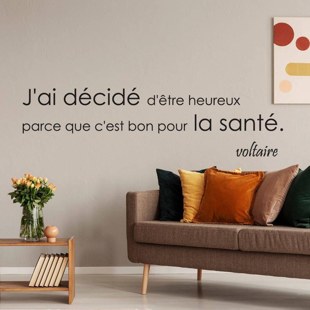 stickers citation voltaire des prix 50 moins cher qu 39 en magasin. Black Bedroom Furniture Sets. Home Design Ideas