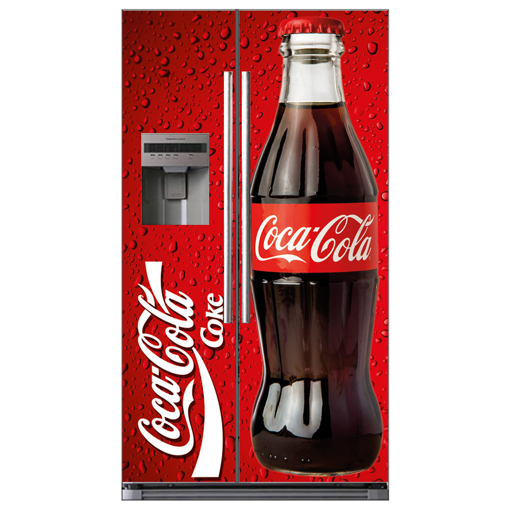 stickers frigo amricain coca cola des prix 50 moins cher qu 39 en magasin. Black Bedroom Furniture Sets. Home Design Ideas