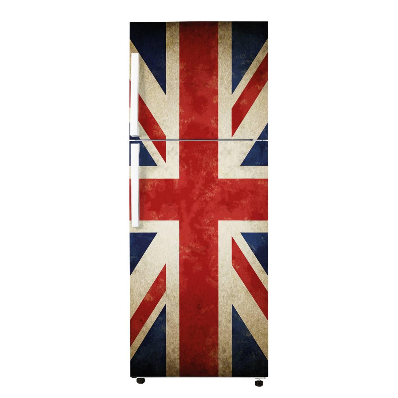 stickers frigo drapeau anglais des prix 50 moins cher qu 39 en magasin. Black Bedroom Furniture Sets. Home Design Ideas