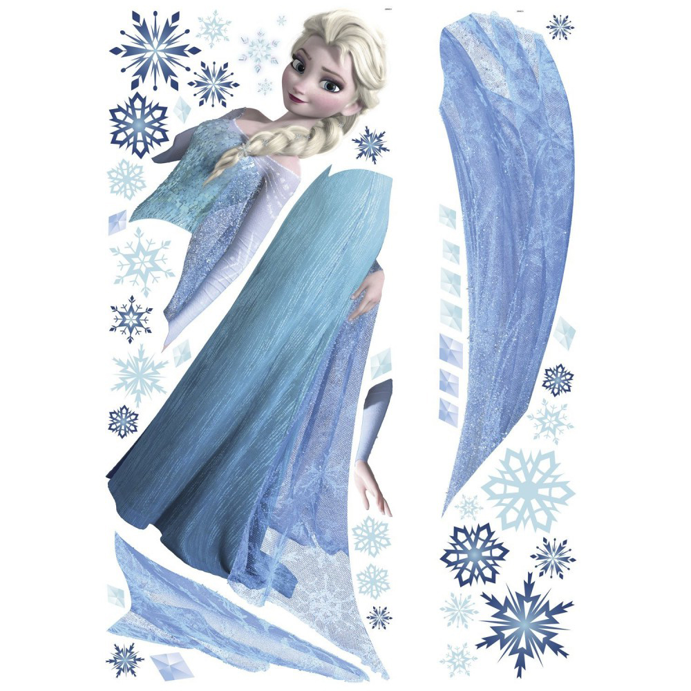 stickers gant elsa la reine des neiges disney des prix 50 moins cher qu 39 en magasin. Black Bedroom Furniture Sets. Home Design Ideas