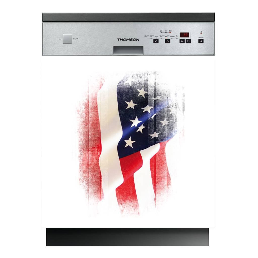 stickers lave vaisselle drapeau usa des prix 50 moins. Black Bedroom Furniture Sets. Home Design Ideas