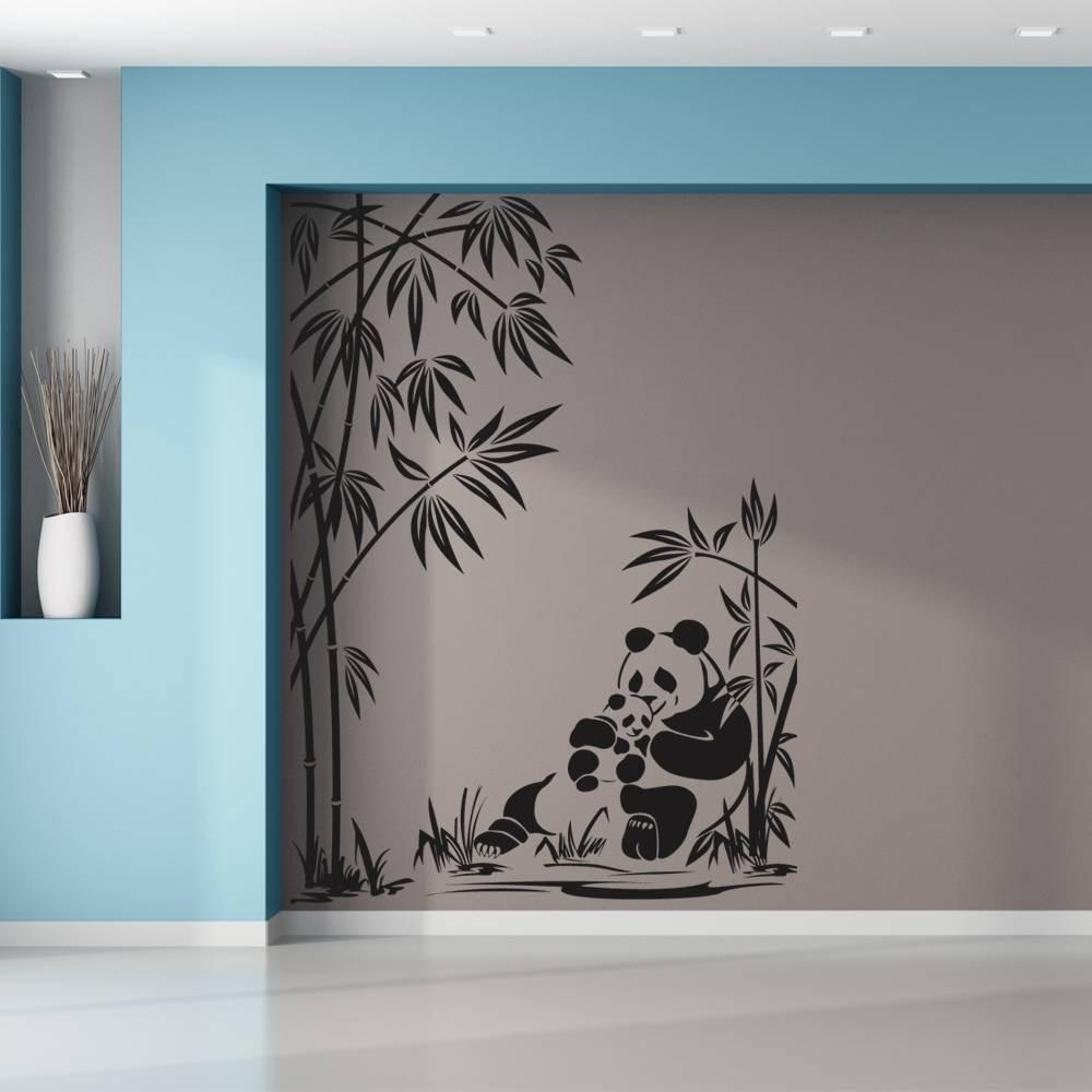 Stickers panda bambou des prix 50 moins cher qu 39 en magasin for Stickers muraux
