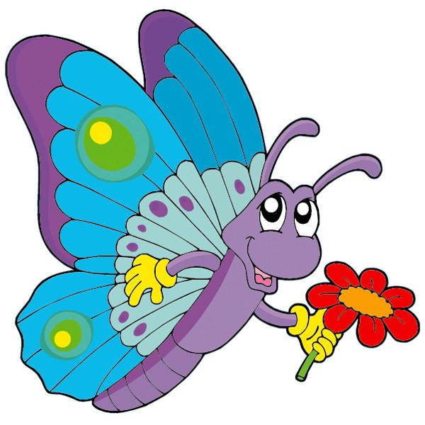 Stickers papillon fleur des prix 50 moins cher qu 39 en - Image papillon et fleur ...