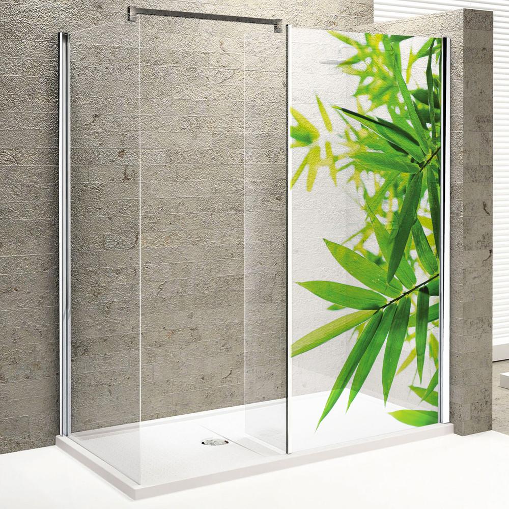 stickers paroi de douche semi translucide feuilles des prix 50 moins cher qu 39 en magasin. Black Bedroom Furniture Sets. Home Design Ideas
